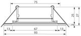 Ledspot-inbouwframe badkamer IP44, zilver mat aluminium, incl. GU10-fitting_