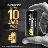 10-pack GP Lithium Pro CR123A batterij 3V_
