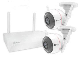 Ezviz Wireless Set - Bewakingssysteem met 2 Camera's (1080p)