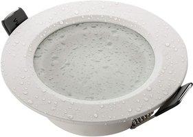 Ledspot-inbouwframe badkamer IP44, aluminium wit, incl. GU10-fitting