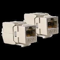 Ethernet Keystone Cat 6A - 2 Stuks