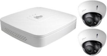 Dahua 4K Camera Set: 2 dome camera's + recorder (2TB)