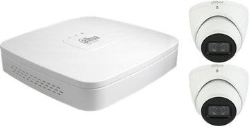 Dahua 4K Camera Set: 2 eyeball camera's + recorder (2TB)