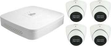 Dahua 4K Camera Set: 4 eyeball camera's + recorder (4TB)