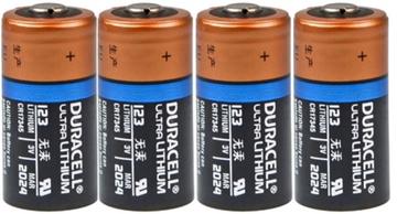 Duracell CR123A Ultra Lithium batterij 3V Bundel 4 stuks