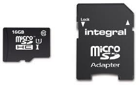 16 GB MicroSD-card Class 10 (incl.SD adapter)