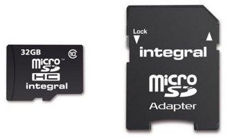 32 GB MicroSD-card Class 10 (incl.SD adapter)