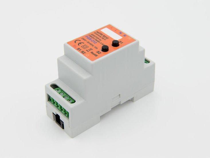 Adapter S212 voor DIN TH35-rail tbv Fibaro Enkel relais FGS212