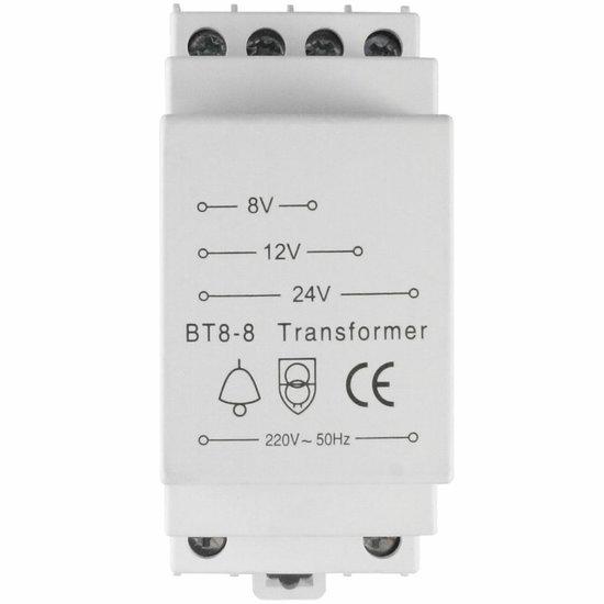 BT8-8 Deurbel transformator 8V/12V/24V