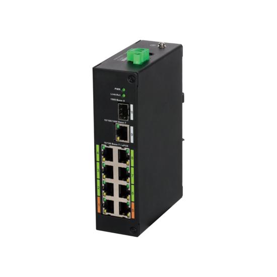 Dahua LR2110-8ET-120 8x EPoE 10/100Mbps Switch 120W incl. SFP en RJ45 Uplink