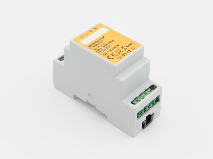 Adapter S213 NP voor DIN TH35-rail tbv Fibaro Enkele Schakelaar 2 FGS213