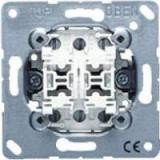 Jung Dubbele impulsdrukker met 2 x 2 maakcontacten
