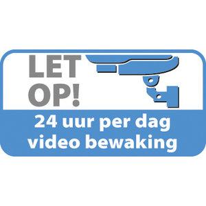 Sticker Camerabeveiliging, binnenkant plakken