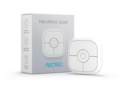 Aeotec NanoMote Quad - 4-knops afstandsbediening