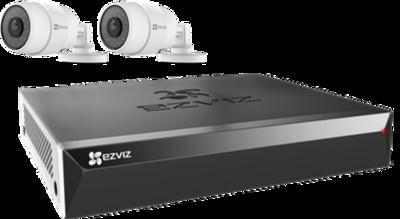 Buiten-camera-set: 2 camera's + recorder