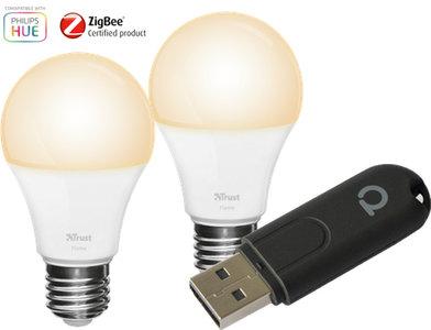 Zigbee Verlichtingsset: Conbee II + 2 lampen