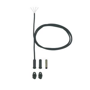 Antraciet inbouw magneetcontact zonder weerstanden, met 5m kabel