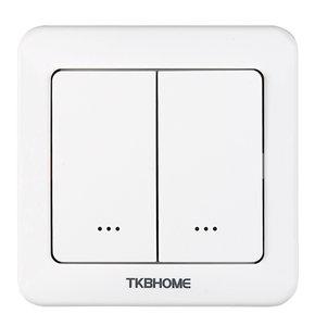 TKB Home TZ36-D inbouwschakelaar met dubbele wipper Z-Wave Plus