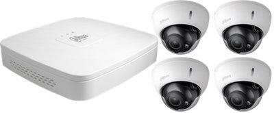 Dahua 4K Camera Set: 4 dome camera's + recorder (4TB)