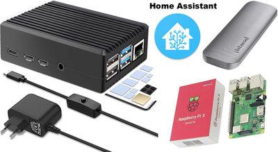 Raspberry Pi 4 4GB SSD Bundle Kit incl. Home Assistant geïnstalleerd