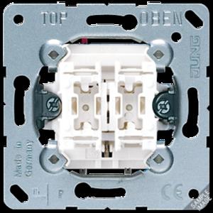 Jung Dubbele impulsdrukker met 2 maakcontacten