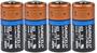 4 x Duracell CR123A Ultra Lithium batterij 3V